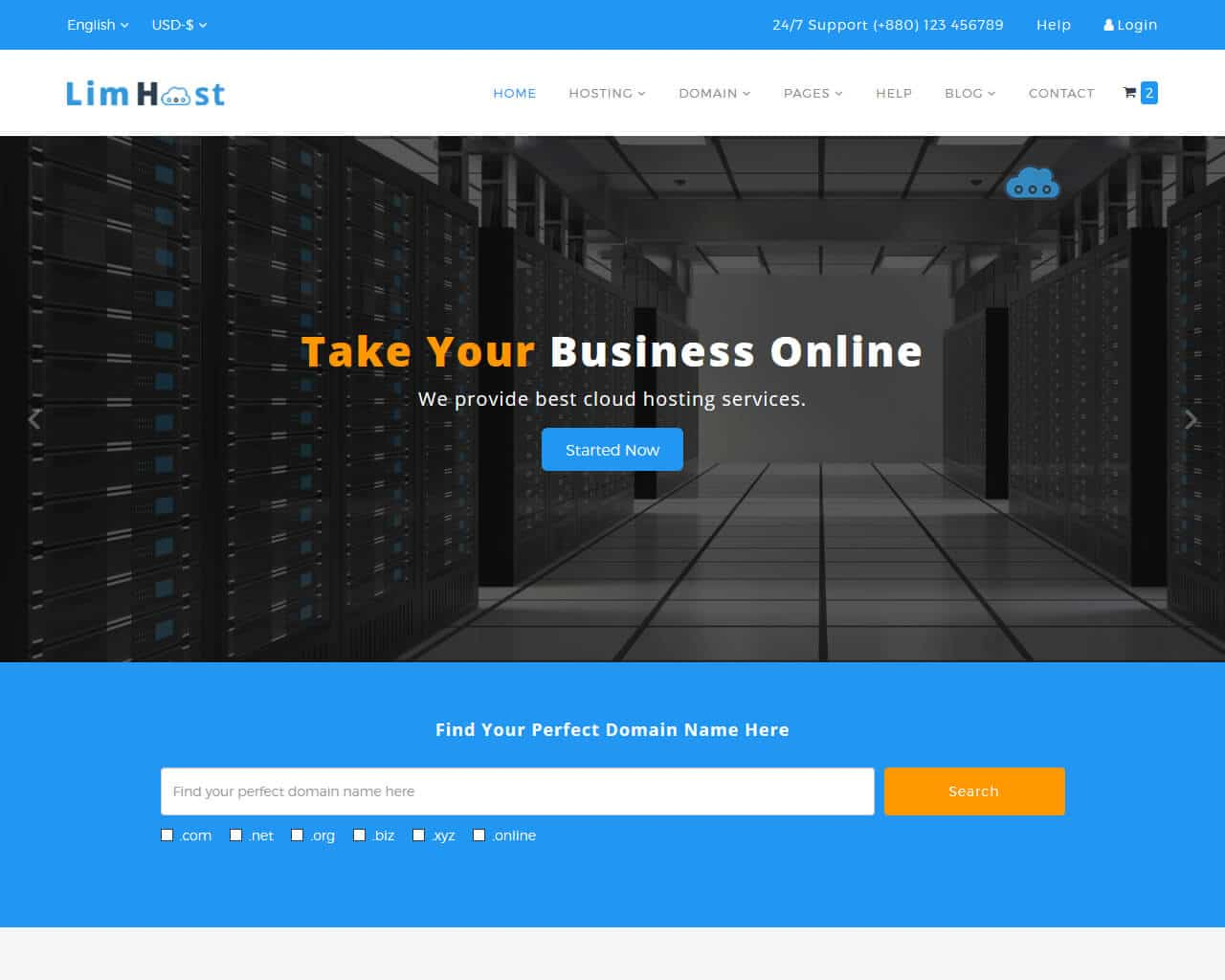 Limhost Website Template