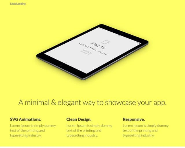 LinesLanding – Bootstrap Landing Page Template