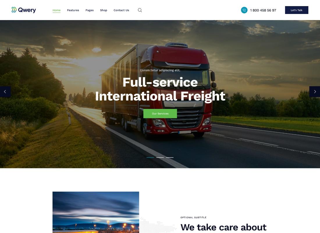 Logistics | Logistics / Transportation / Warehousing WordPress Theme Website Template