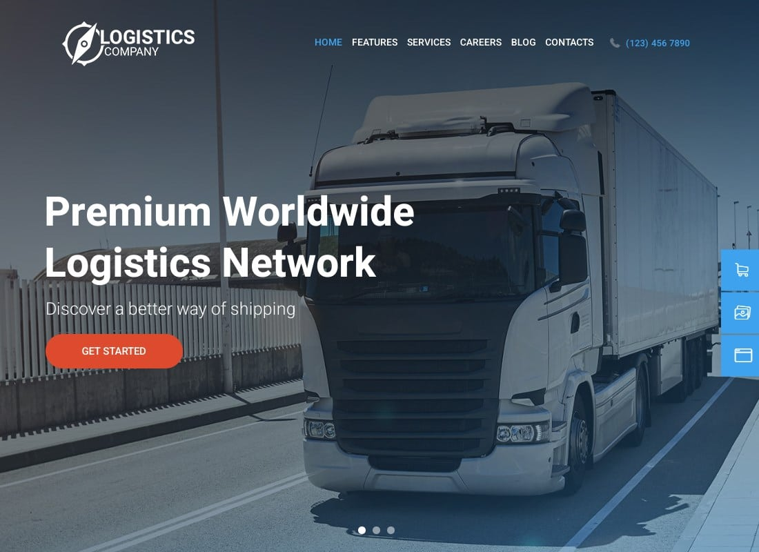 Logistics Company | Logistics / Transportation / Warehousing WordPress Theme Website Template