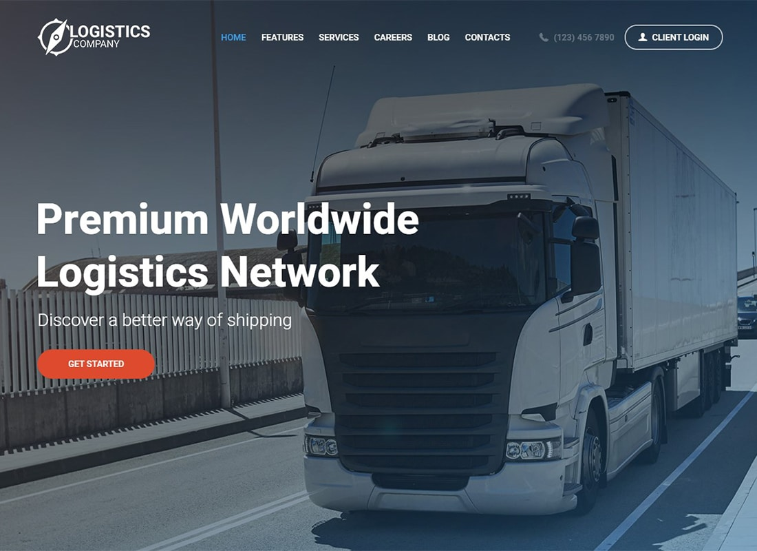 Logistics / Transportation and Warehousing Shipment WordPress Theme Website Template
