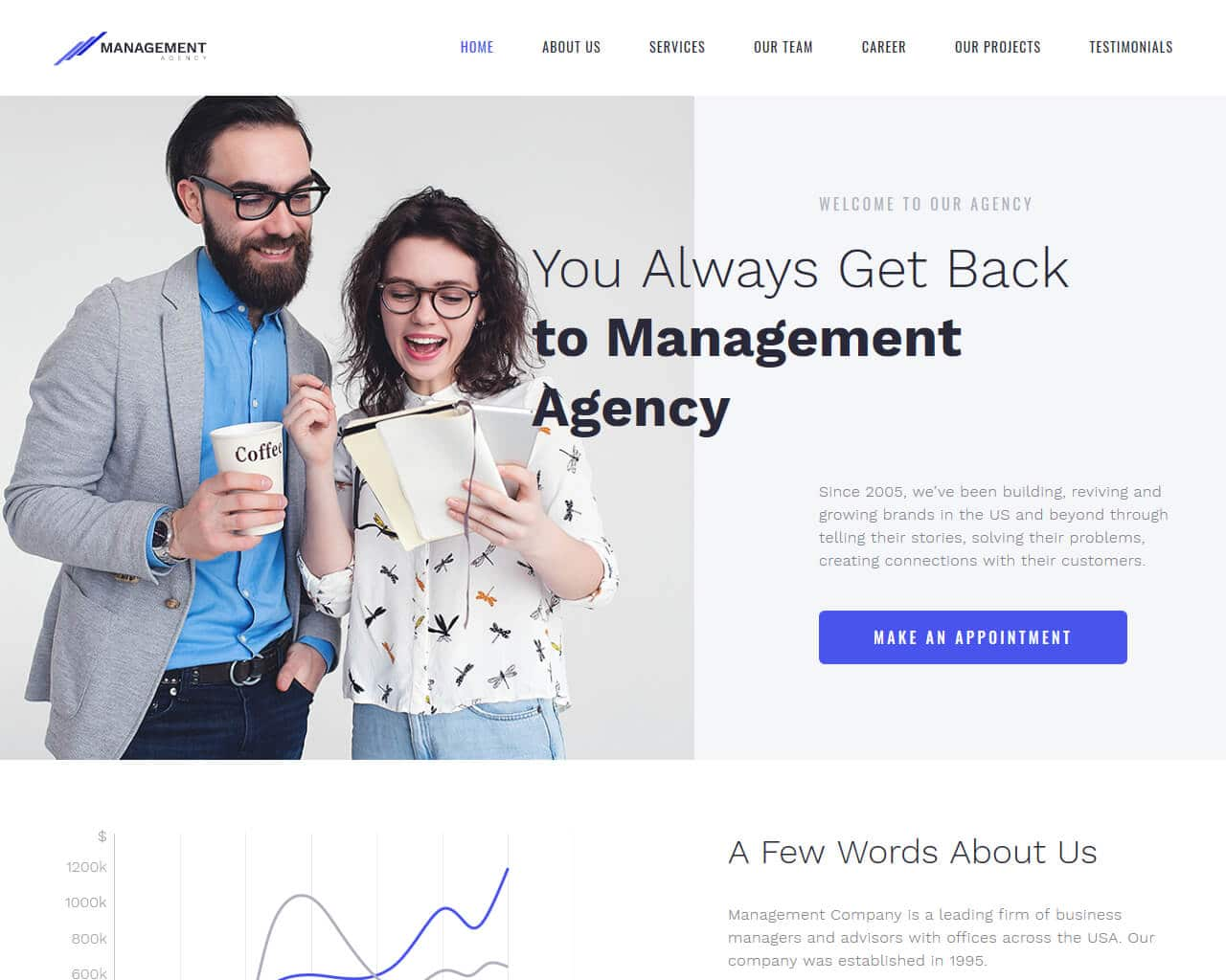 Management Website Template