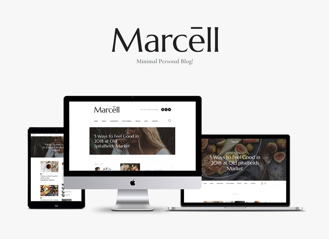 Marcell | 20+ Layouts Multi-Concept Personal Blog & Magazine WordPress Theme Website Template