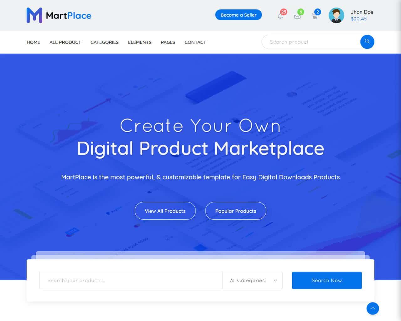 MartPlace Website Template