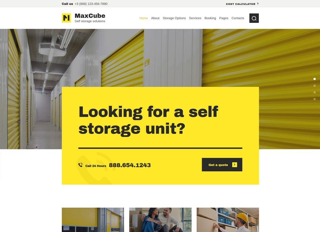 MaxCube | Self Storage Business WordPress Theme Website Template