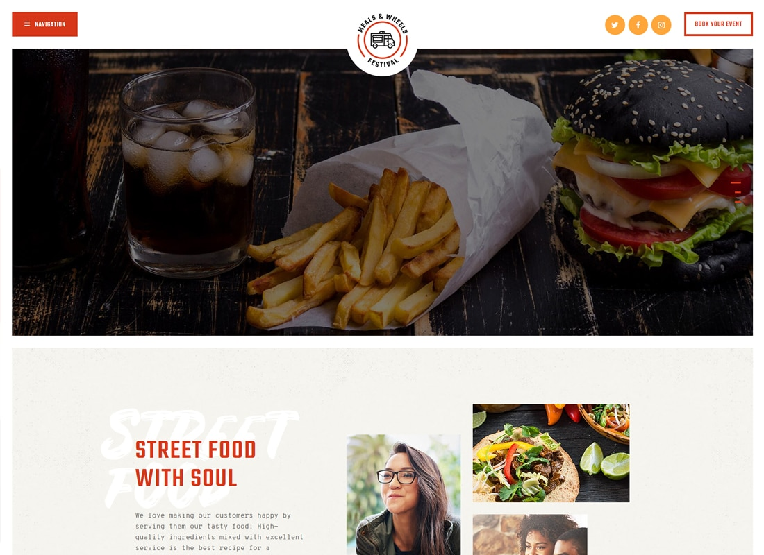 Meals & Wheels | Street Food Festival & Fast Food Delivery WordPress Theme Website Template