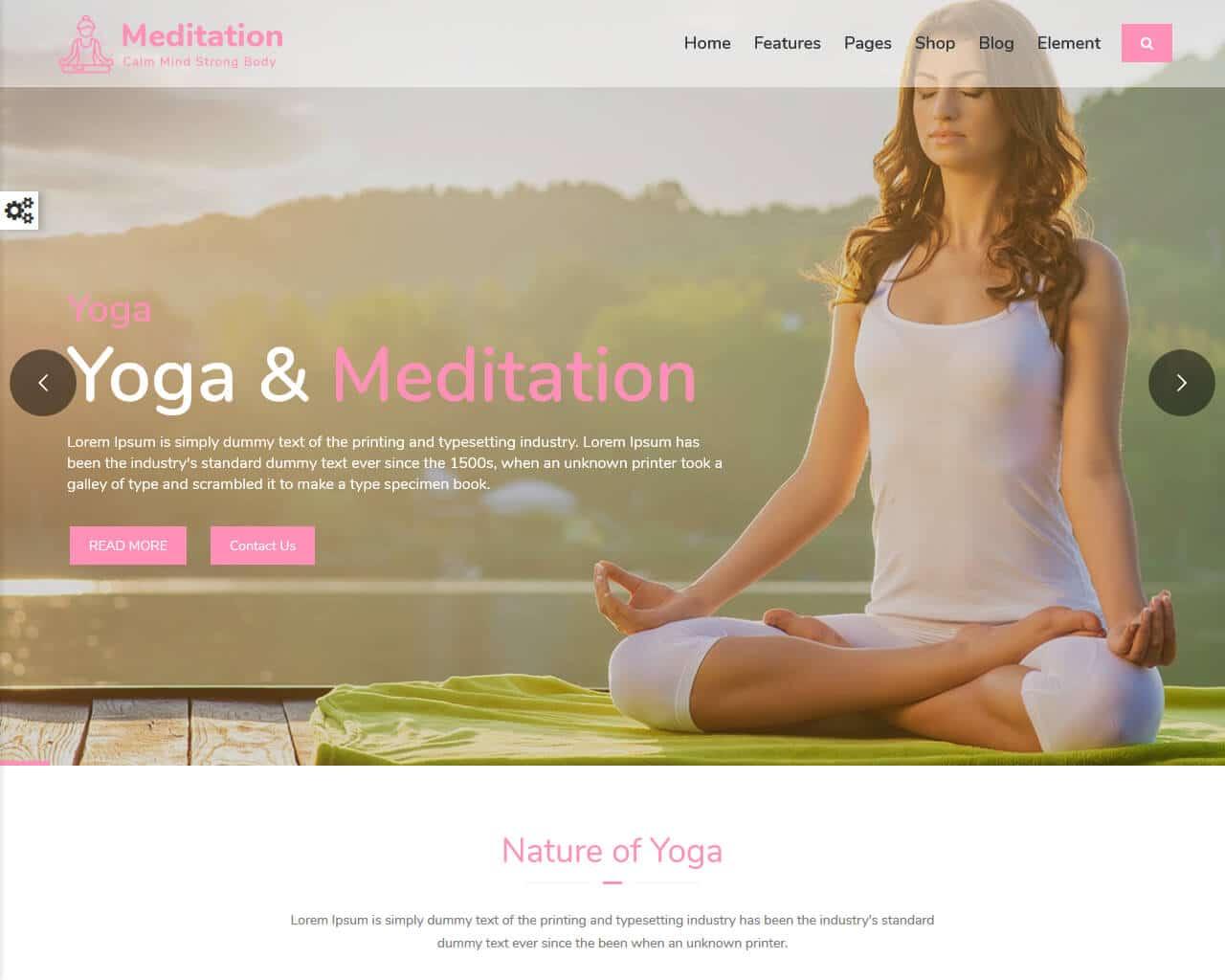 Meditation Website Template