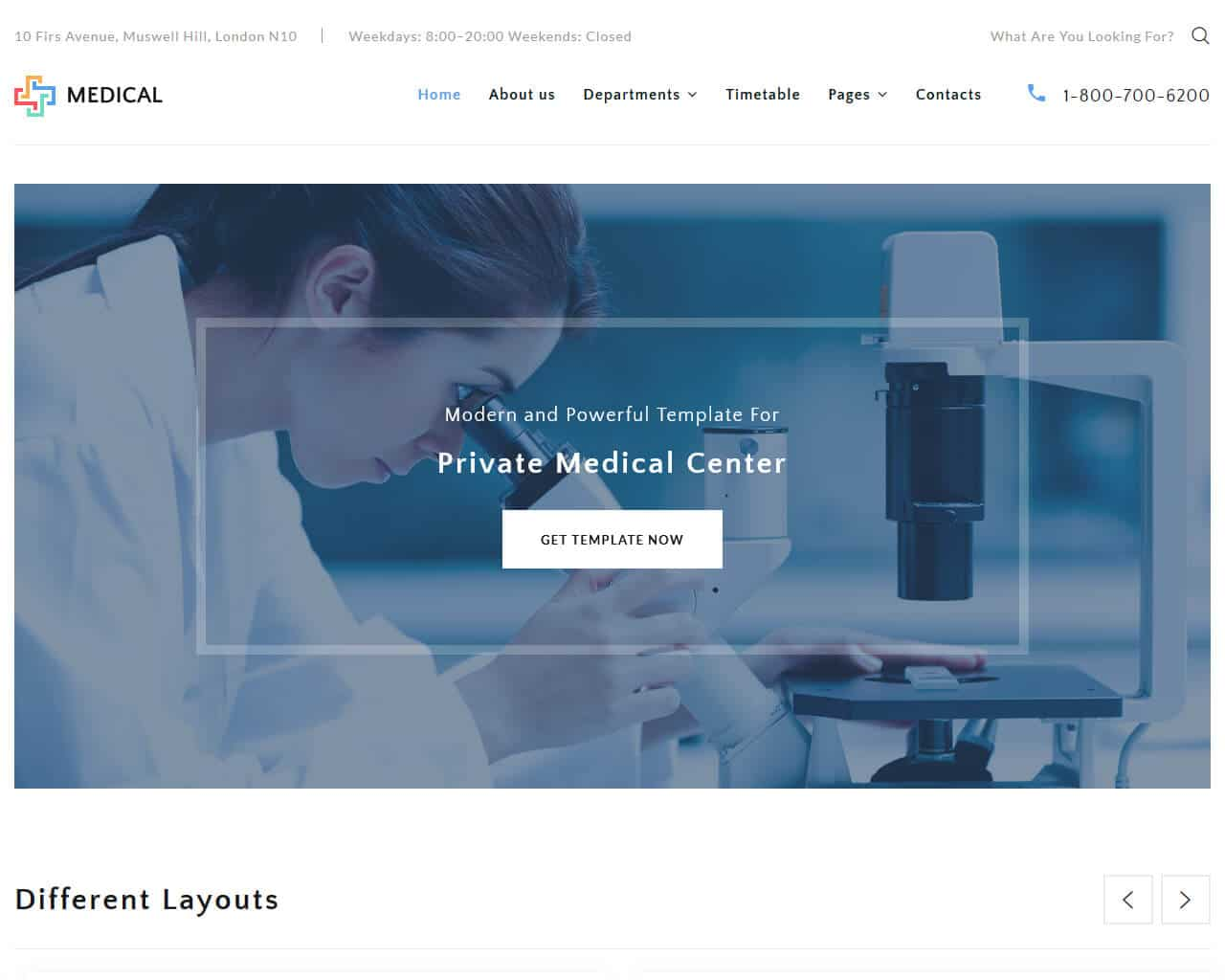 Medical Center Website Template