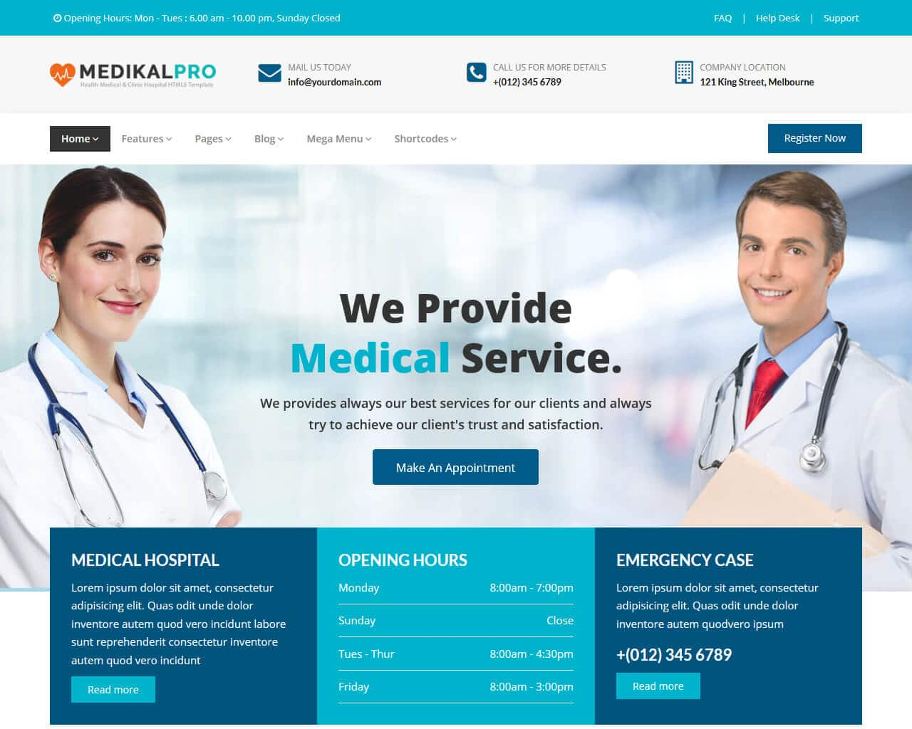 Medical Pro Website Template