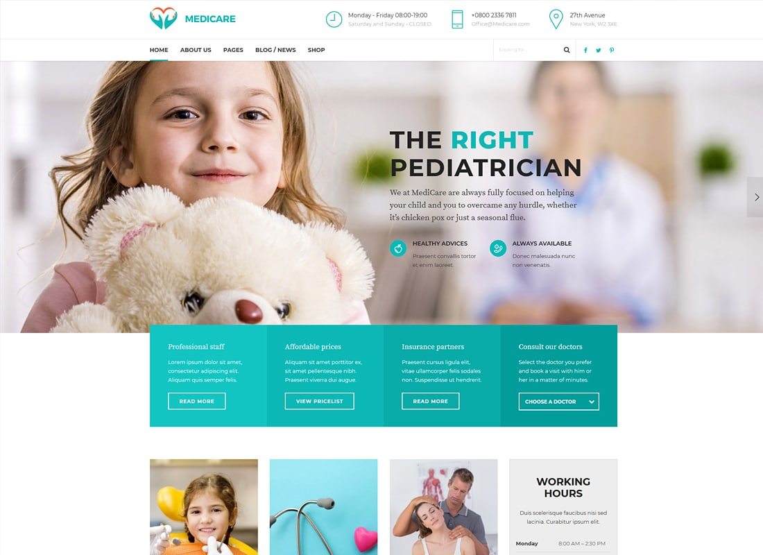 Medicare - Medical & Health Theme Website Template