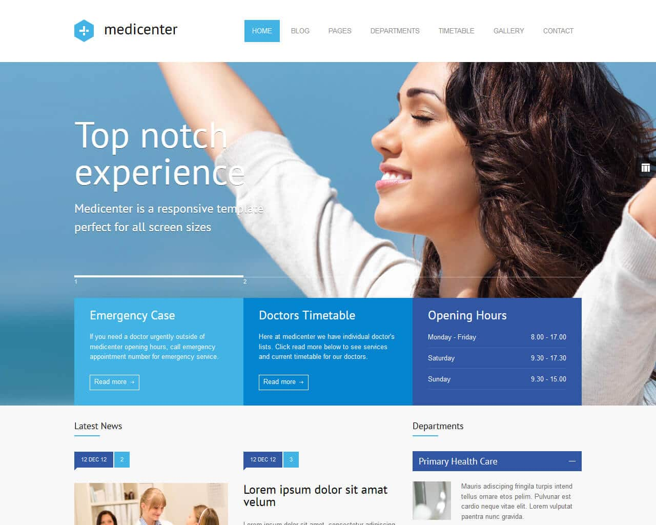 MediCenter Website Template