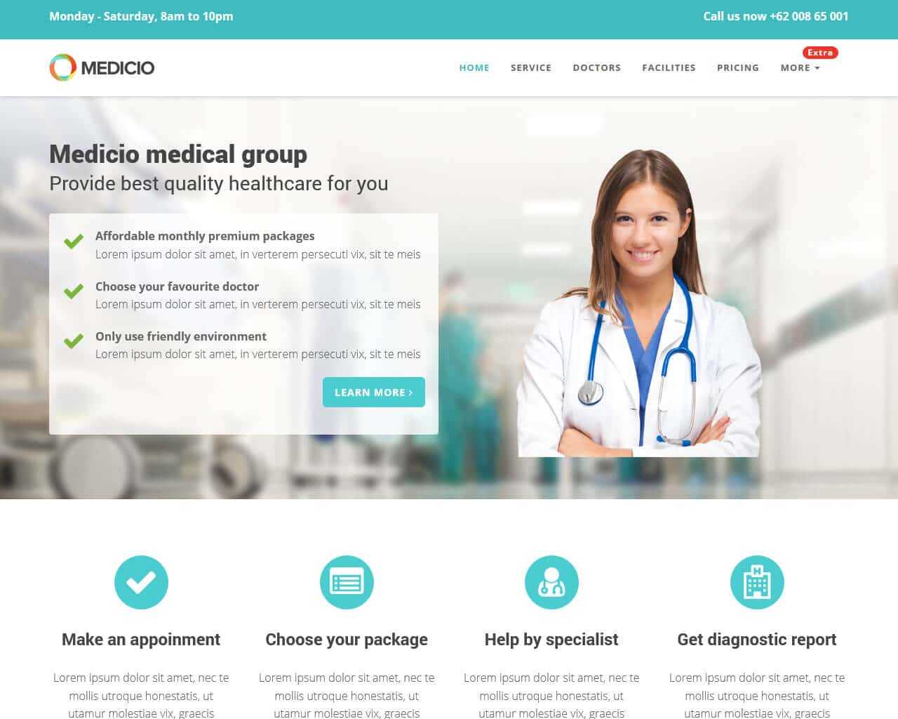 Medicio Website Template