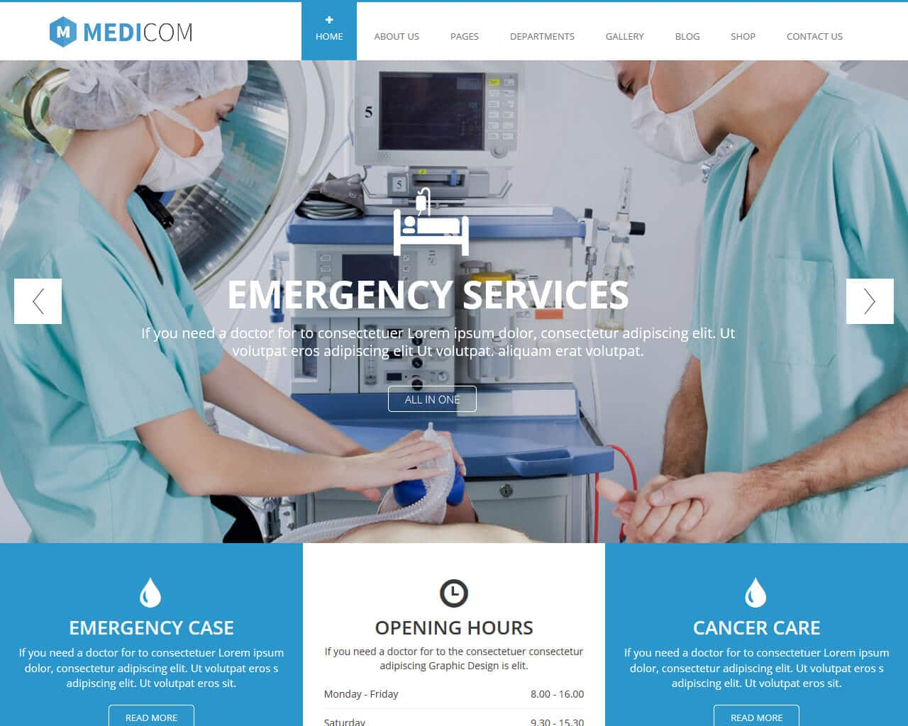 Medicom Website Template