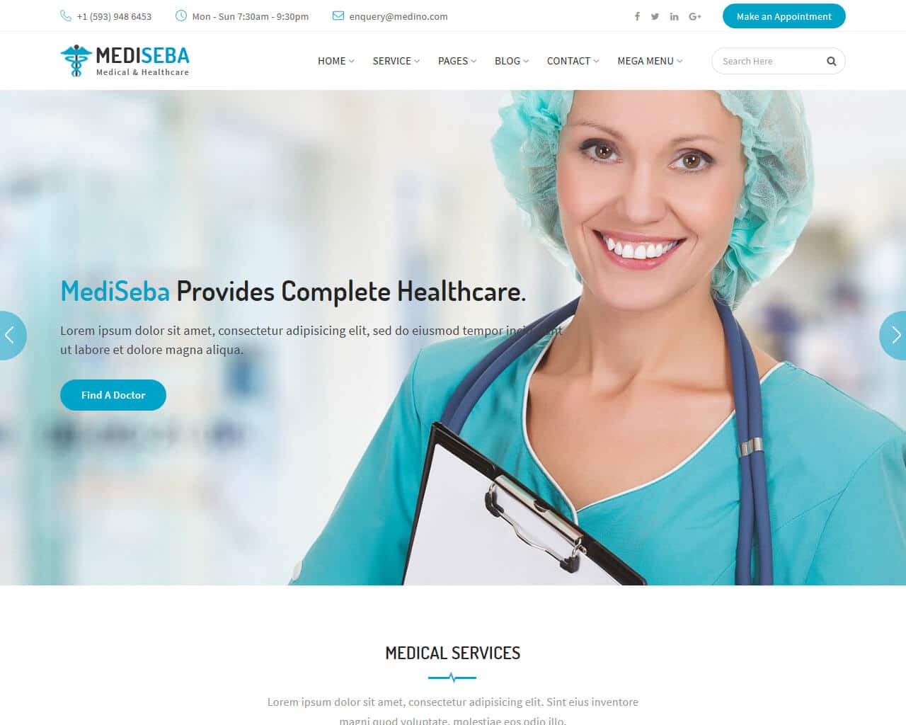 Mediseba Website Template