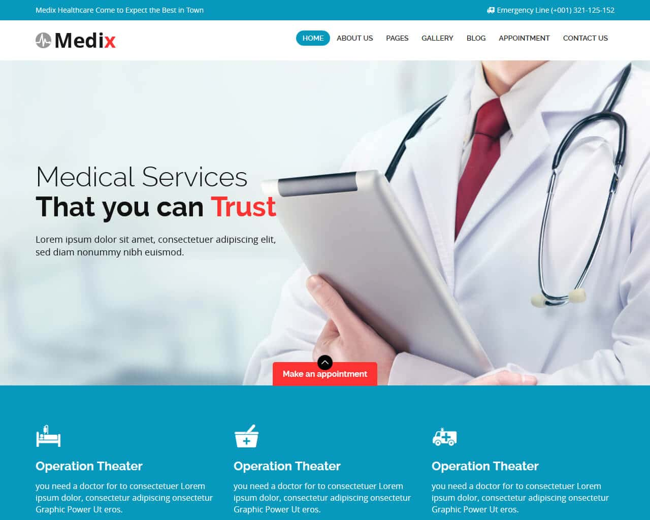 Medix Website Template