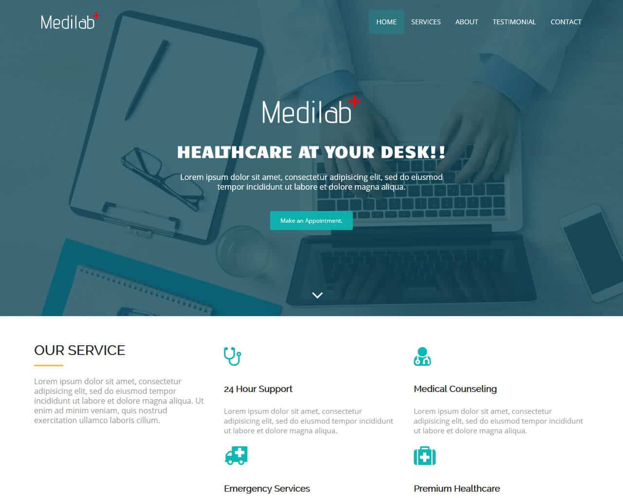 Medilab Website Template