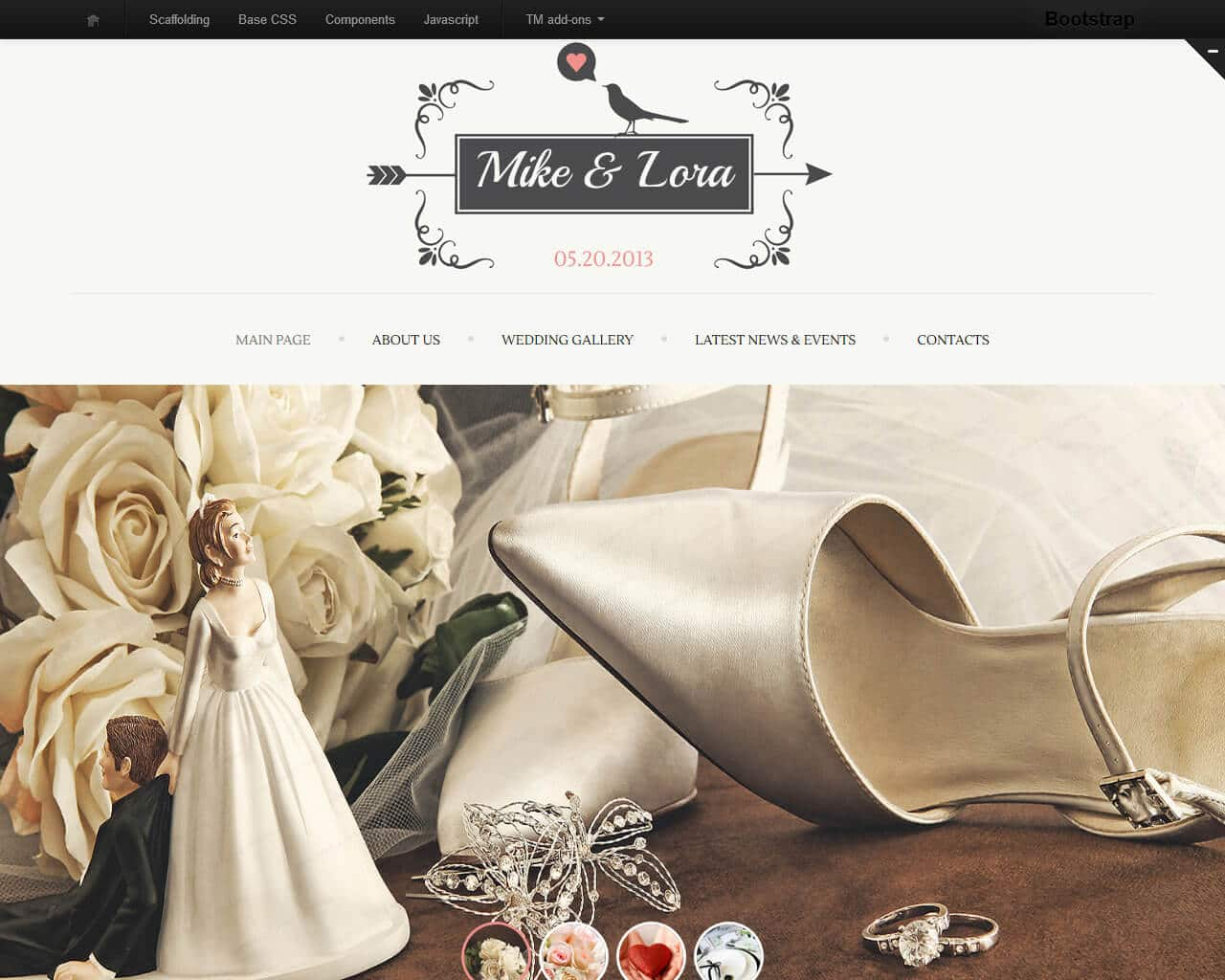 Mike & Lora Website Template