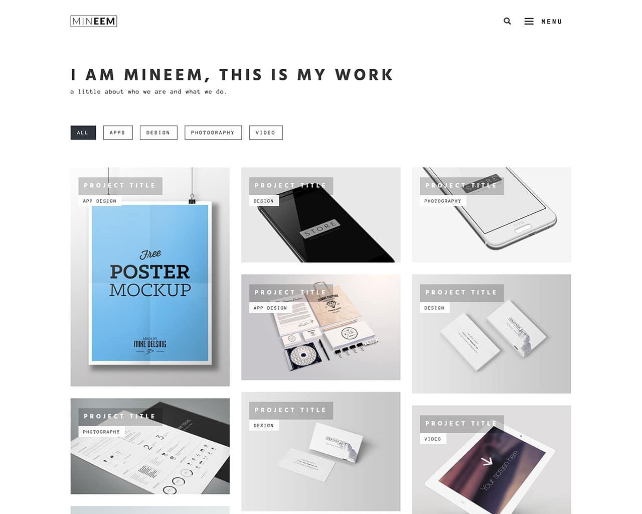 Mineem – Clean Minimal Modern Portfolio & Blog Template
