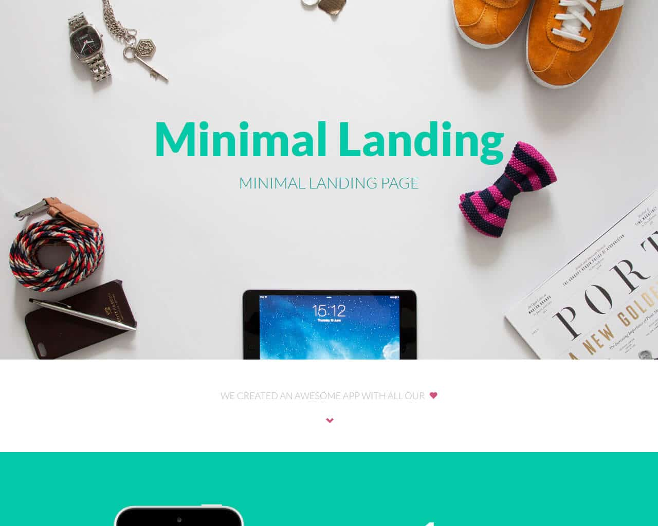 MinimalLanding Website Template