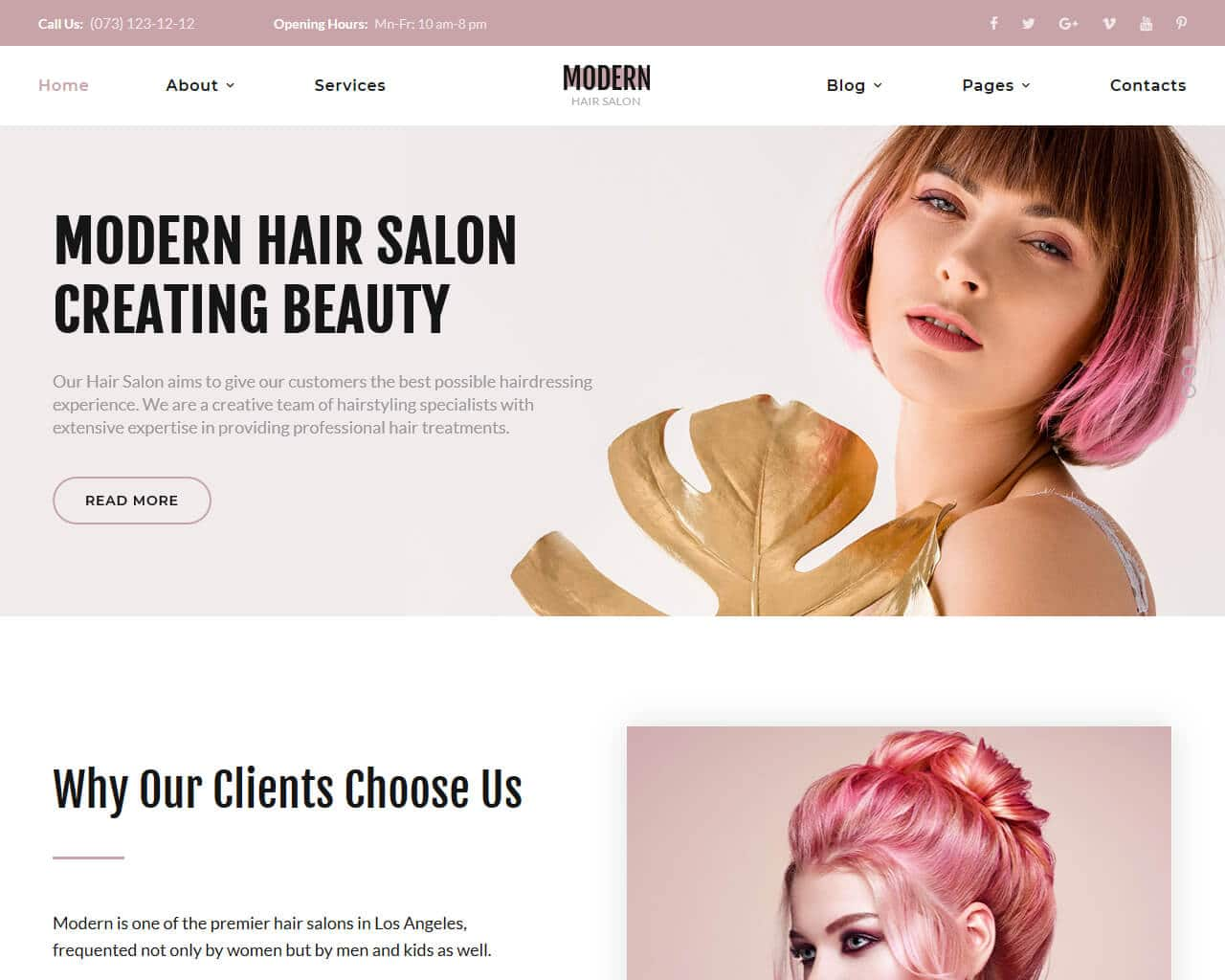 20 best beauty salon and spa website templates 2018 templatemag