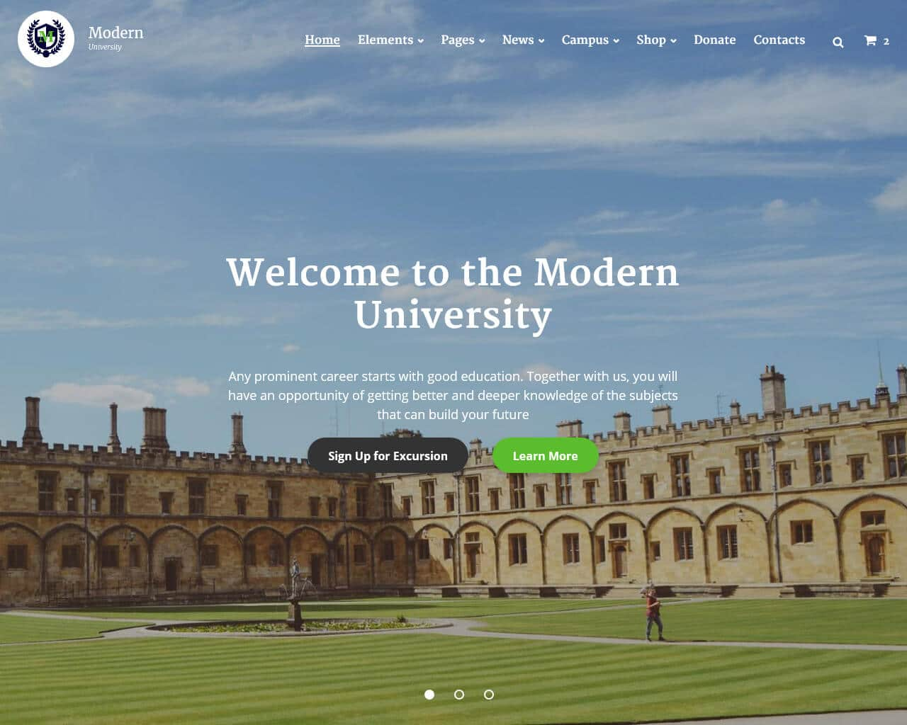 Modern University Website Template