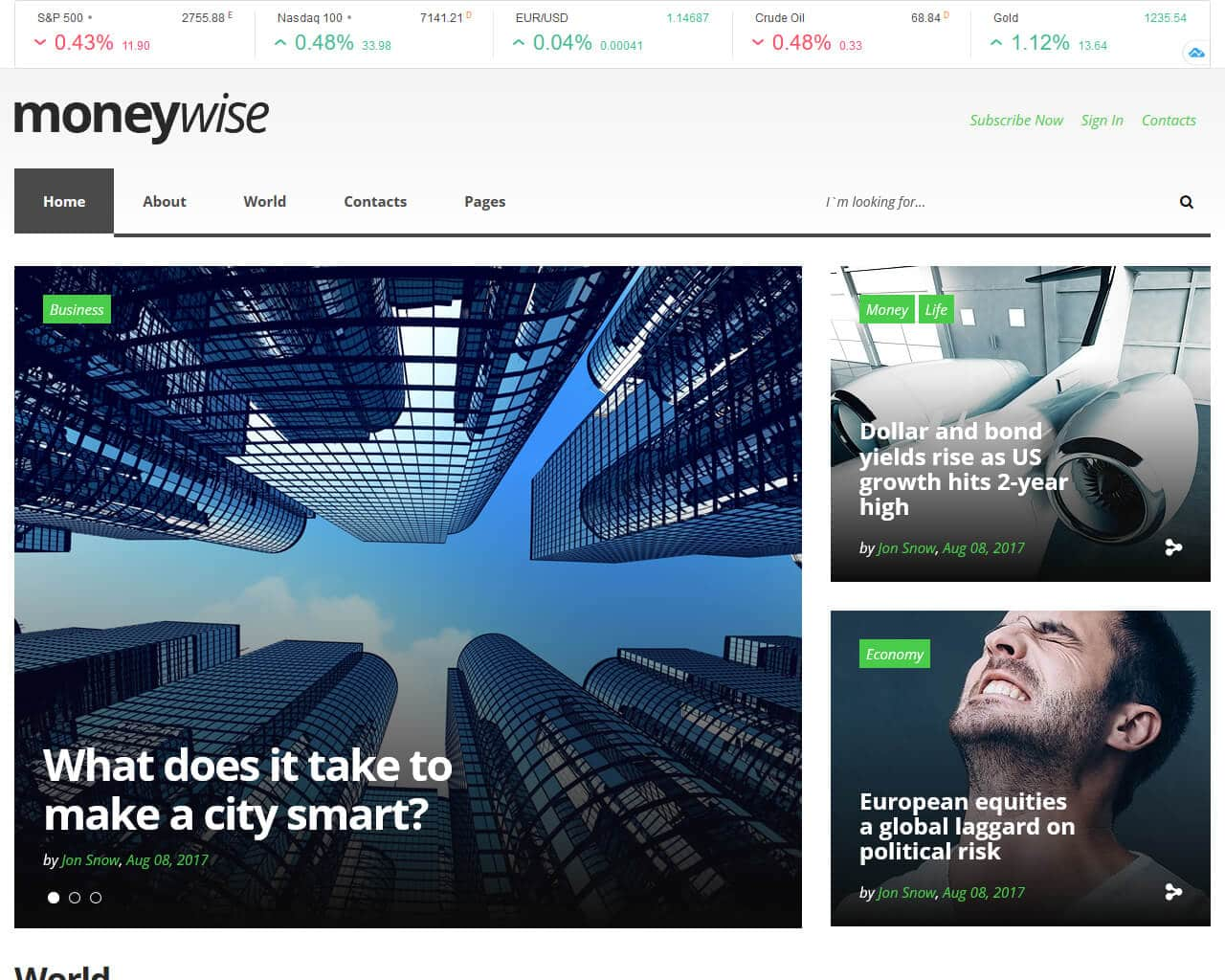 Moneywise Website Template