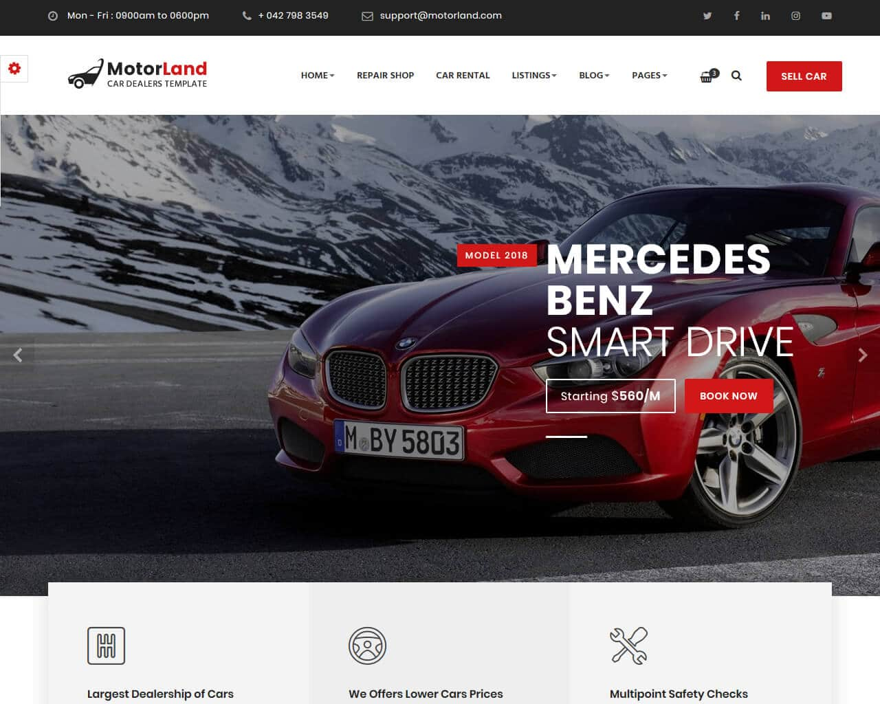 Motorland Website Template