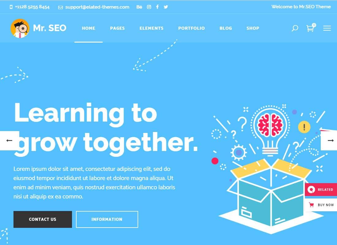Mr. SEO | SEO, Marketing Agency and Social Media Theme  Website Template