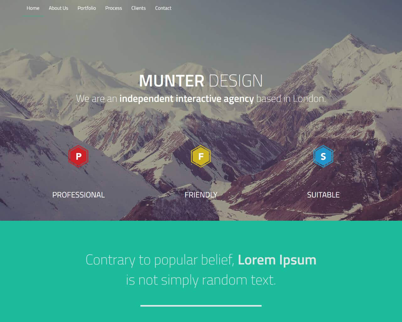 Munter – Bootstrap One Page Template