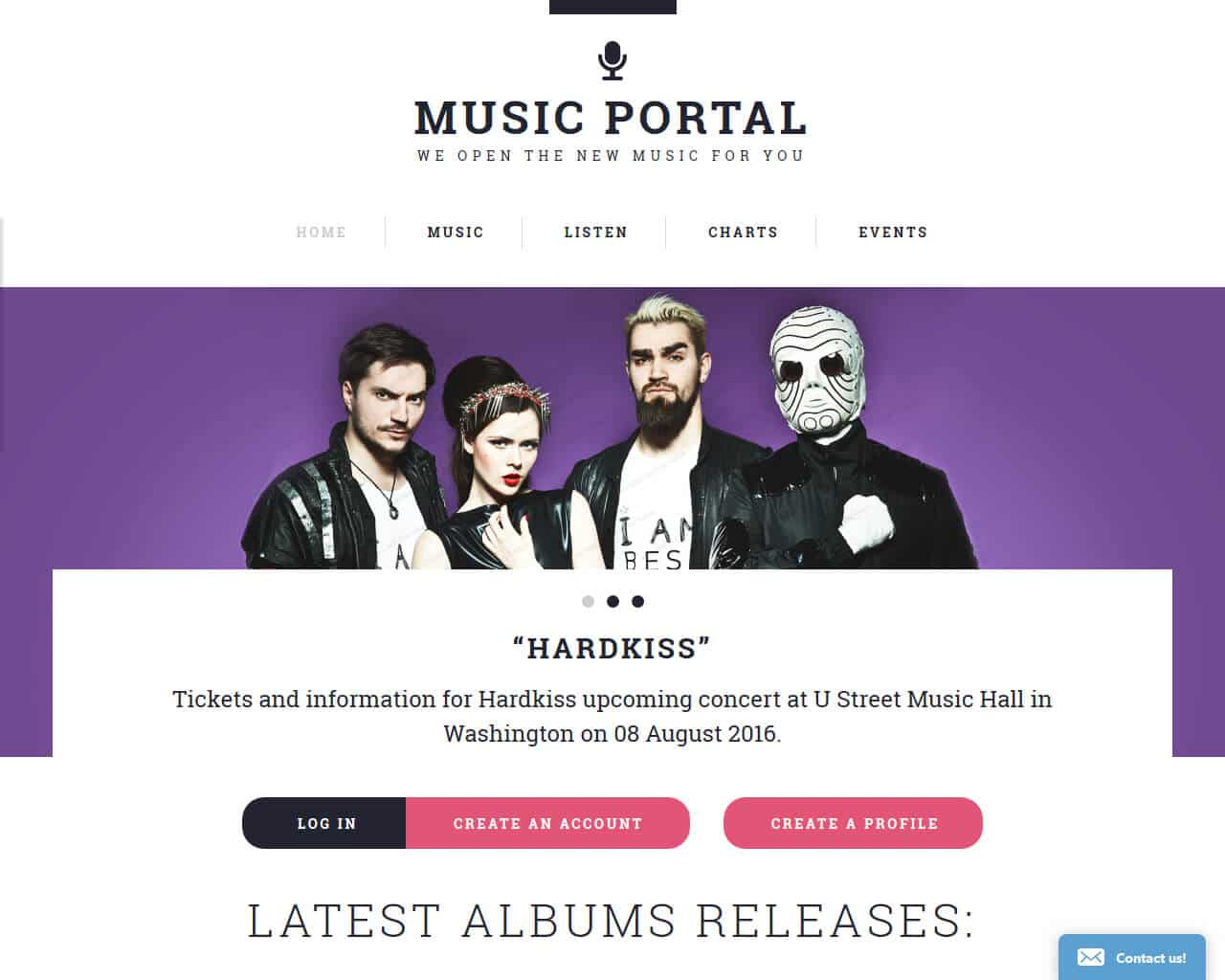 Music Portal Website Template