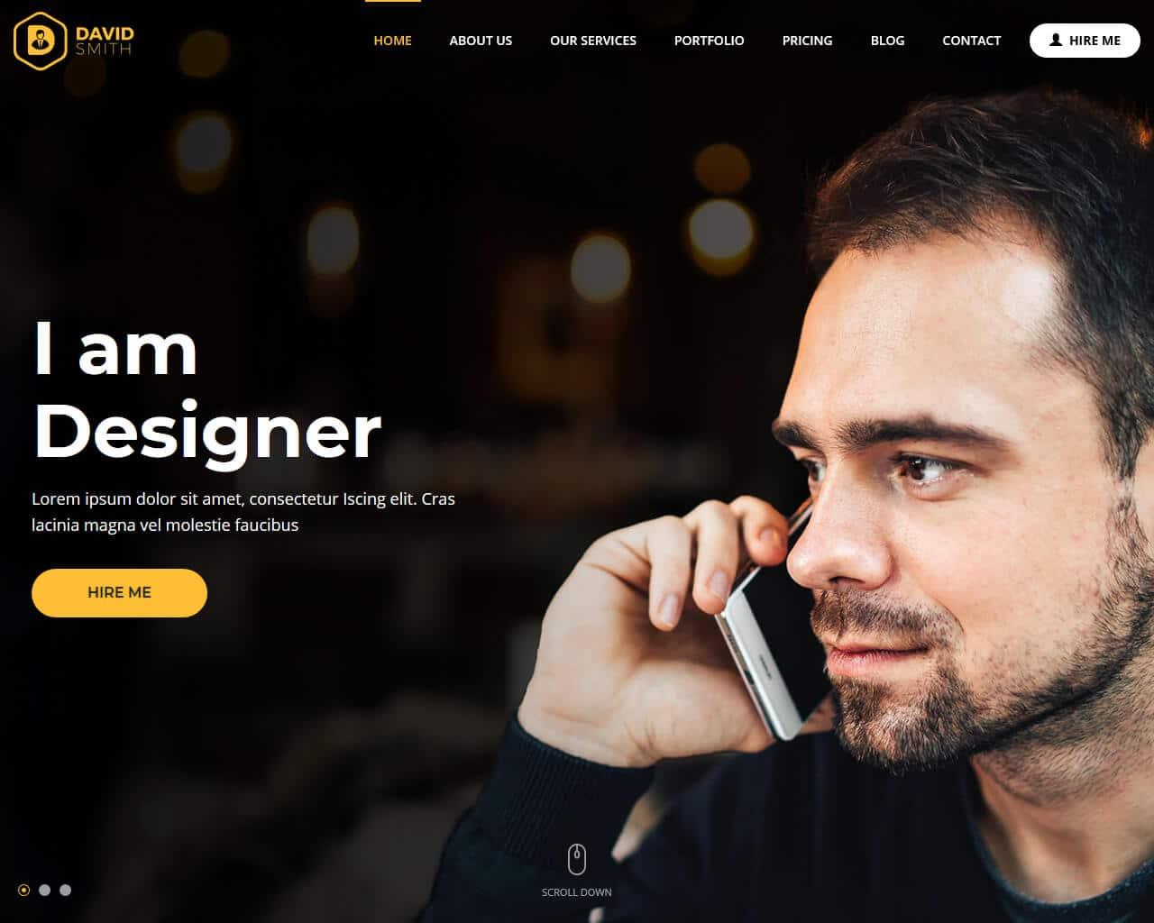 MyBio Website Template