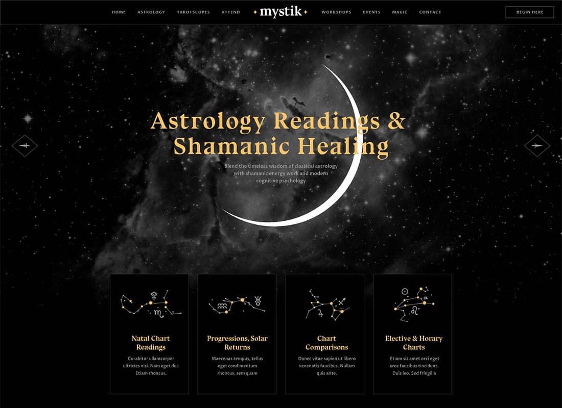 Mystik | Astrology & Esoteric Horoscope WordPress Theme Website Template