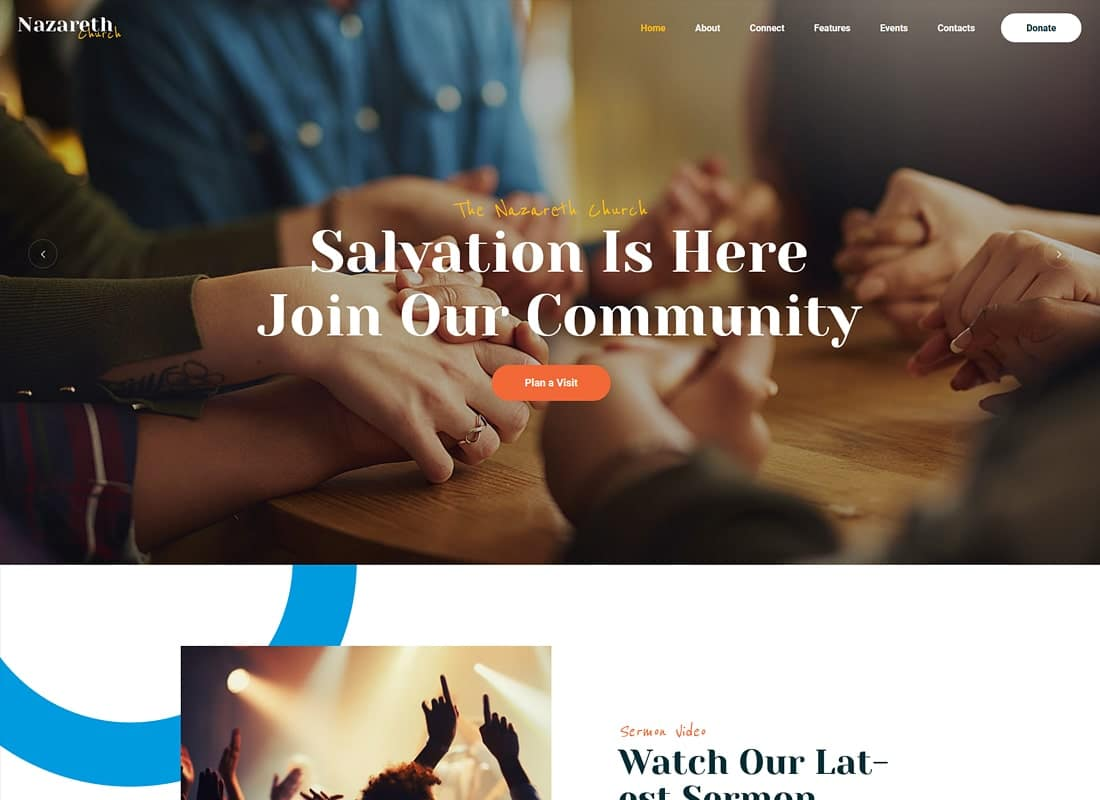 Nazareth | Church & Religion WordPress Theme Website Template