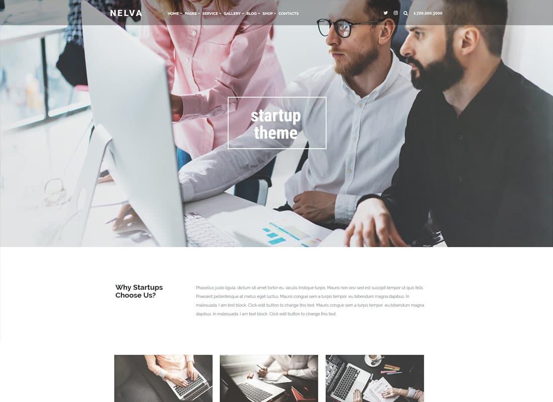 Nelva - Marketing & Startup Theme Website Template