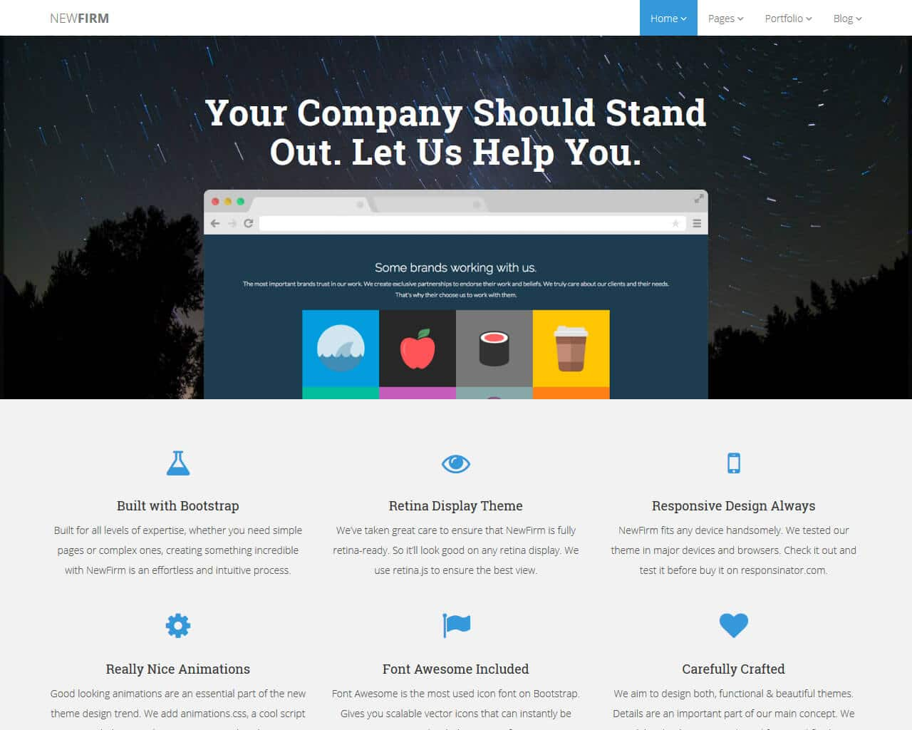 Newfirm Website Template