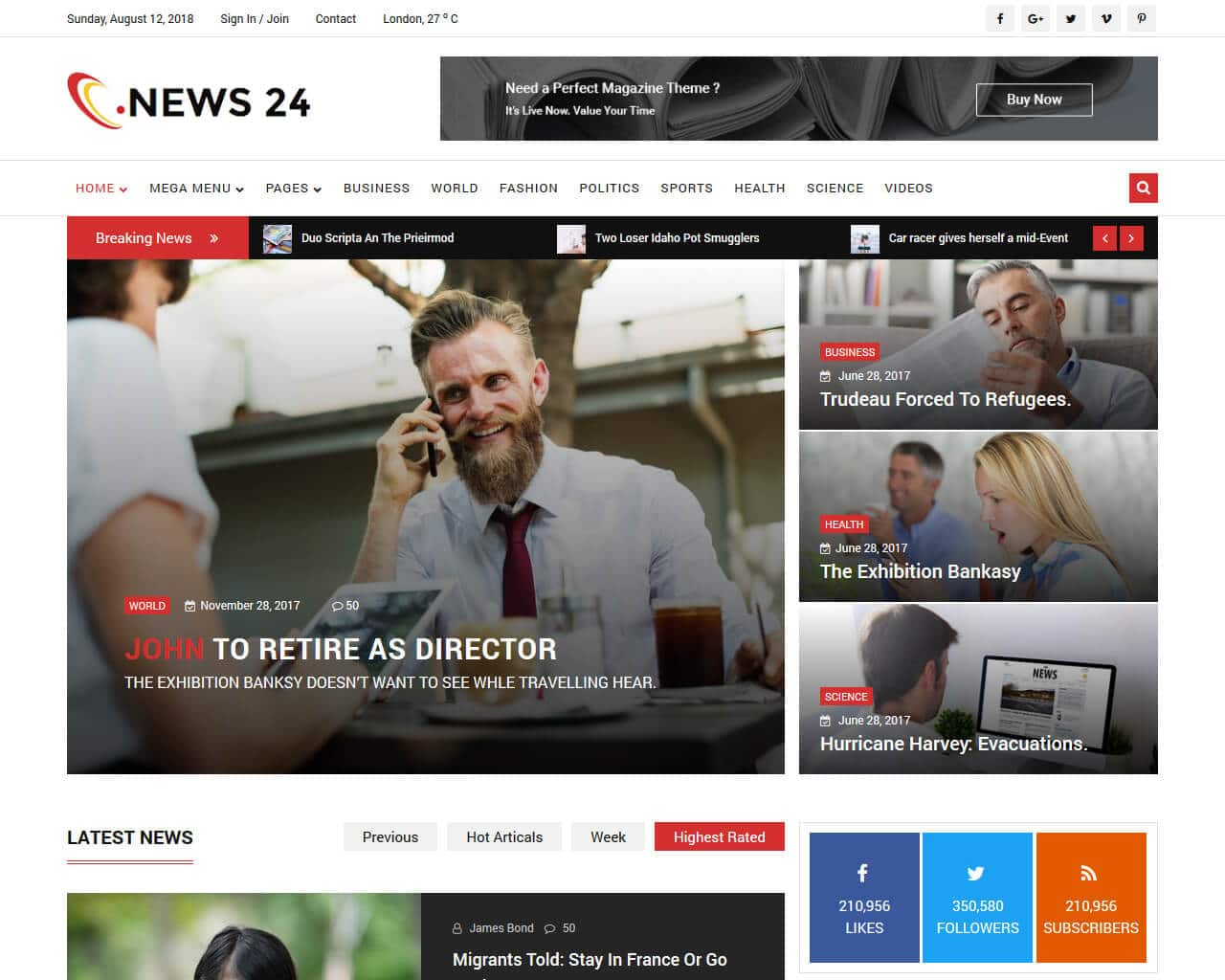 News 24 Website Template