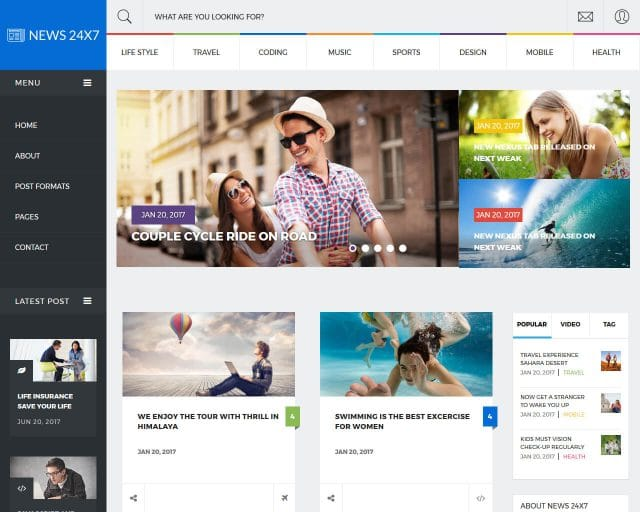 20+ Best News and Magazine Website Templates 2018