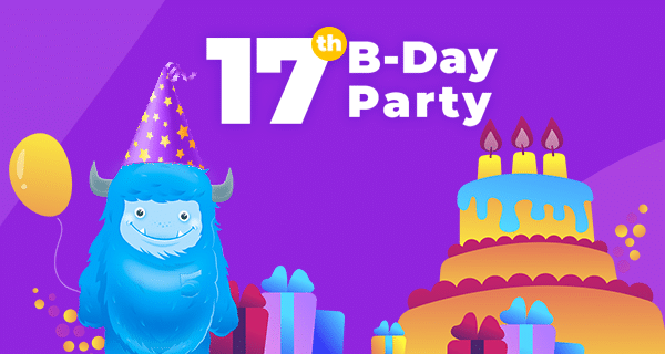 Have Fun at the Wild TemplateMonster's Birthday Party