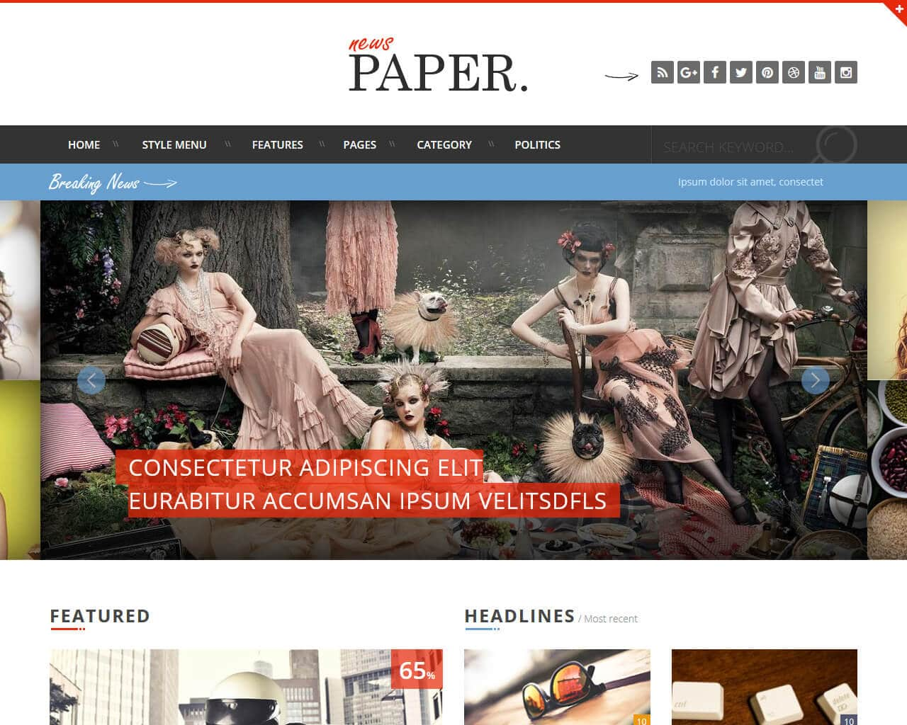 News Paper Website Template