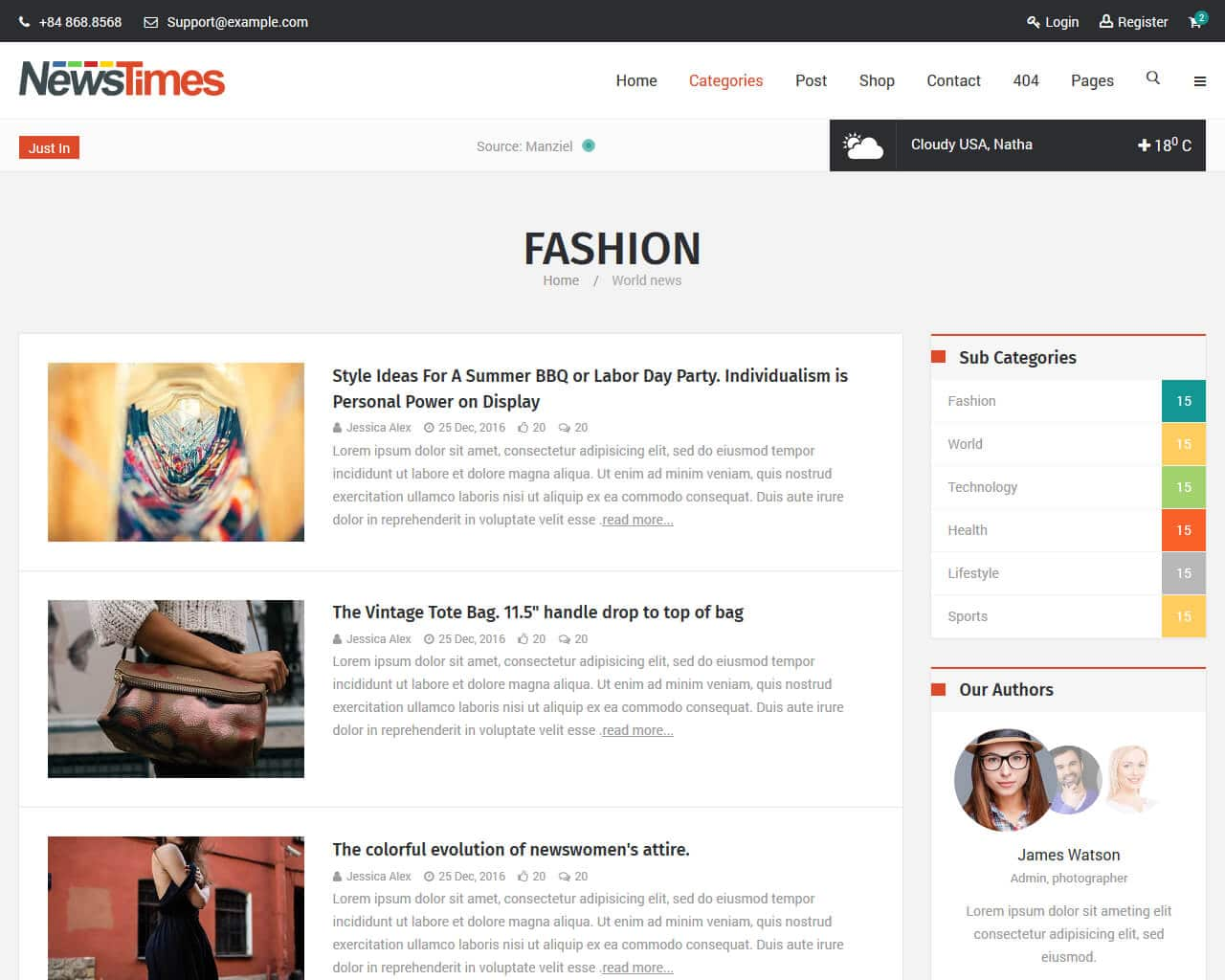 NewsTimes Website Template