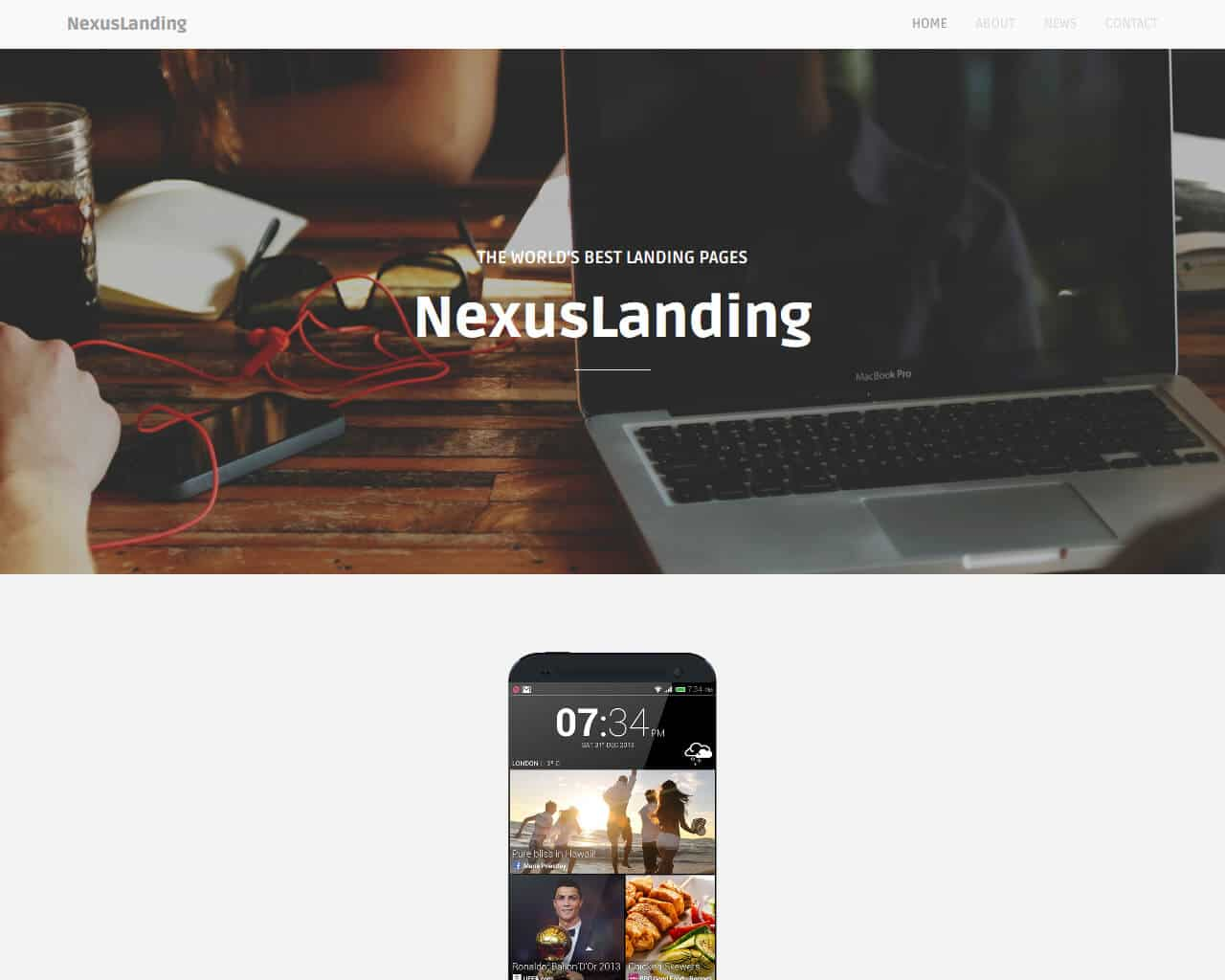 NexusLanding Website Template