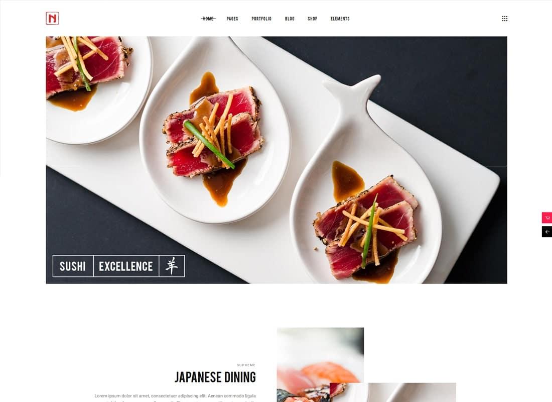 Nigiri | A Modern Restaurant WordPress Theme Website Template