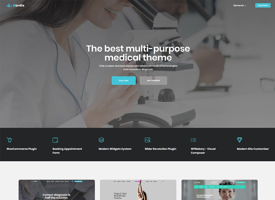 Medical Nordis - Health & Medical WordPress Website Template