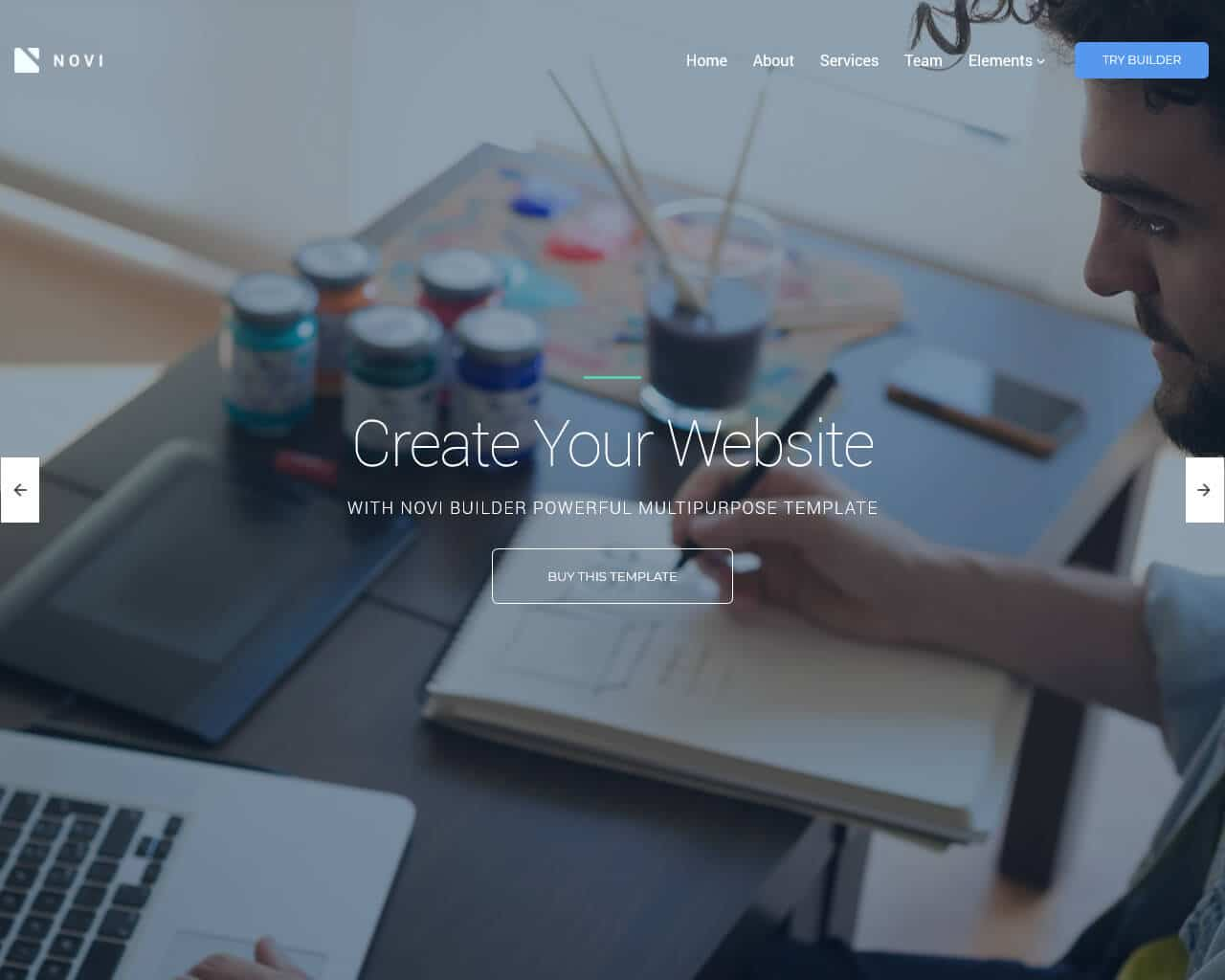 Novi Website Template