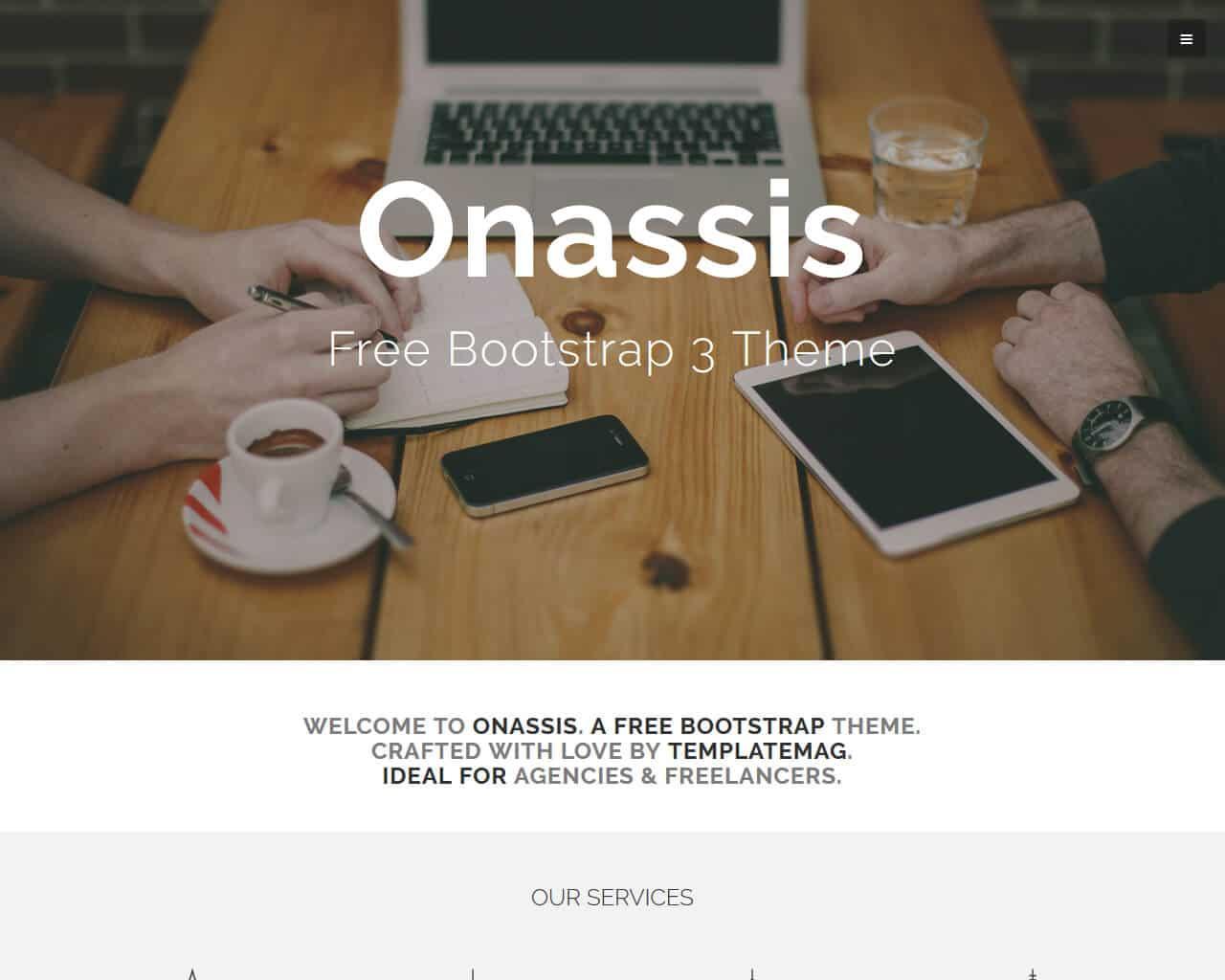 Onassis Website Template