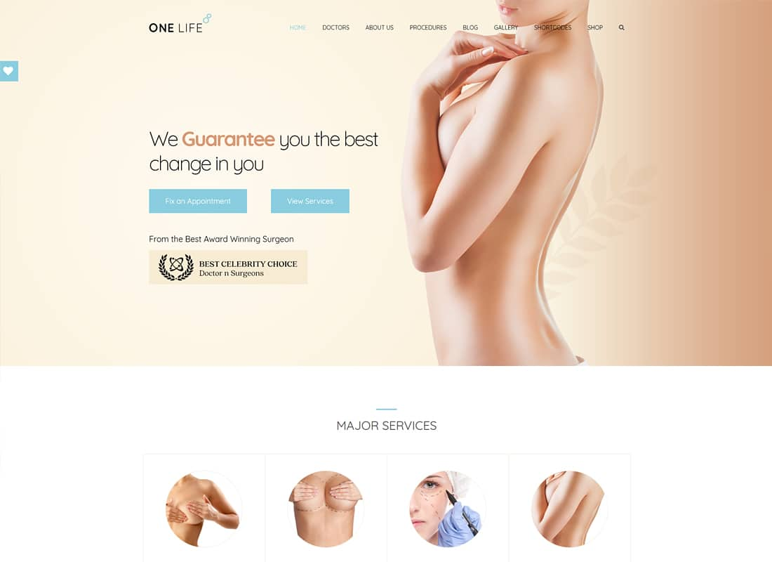 OneLife Medical | Medical, Health WordPressTheme Website Template