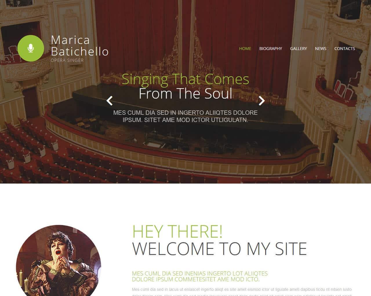 Opera Singer Website Template