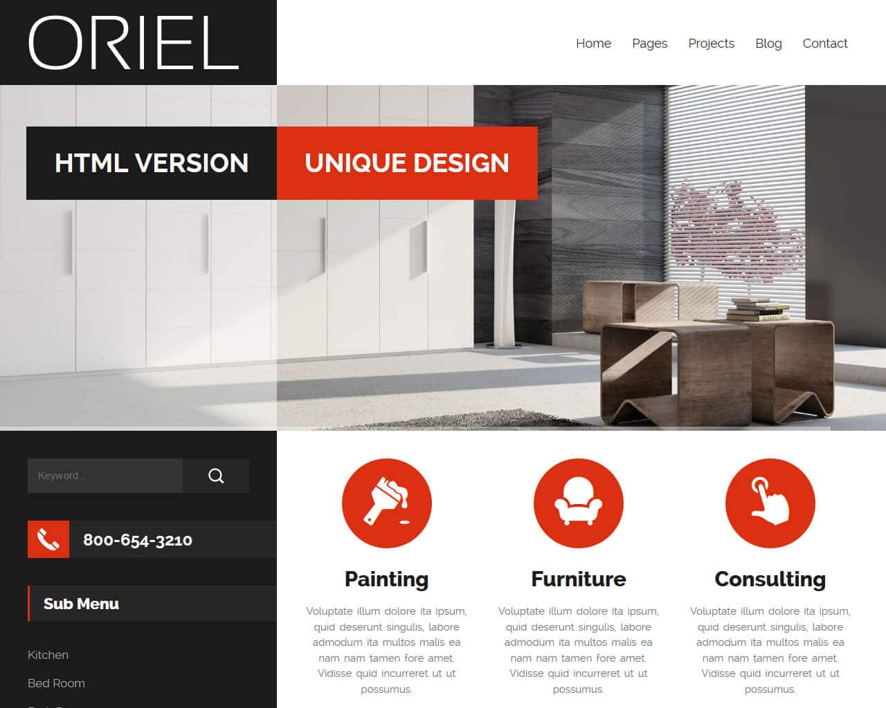 ORIEL Website Template
