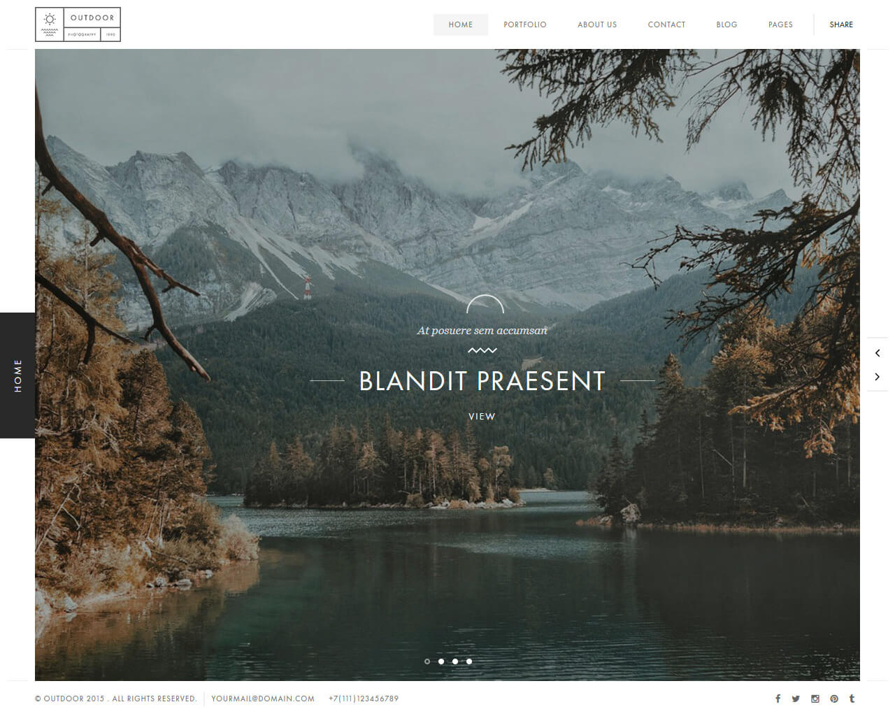 Outdoor Website Template