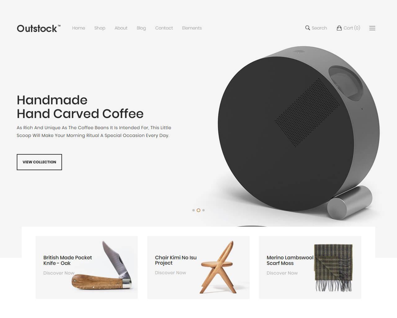 Outstock Website Template